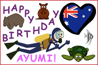 An Australia birthday card